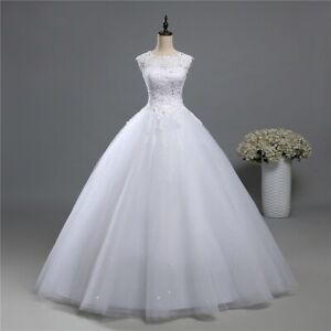 wedding dress ball gown white lace tulle corset back plus