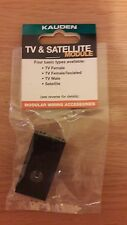 KAUDEN TV & SATELLITE MODULE CO-AX-FEMALE SIZE 25 X 50 MM. BLACK.