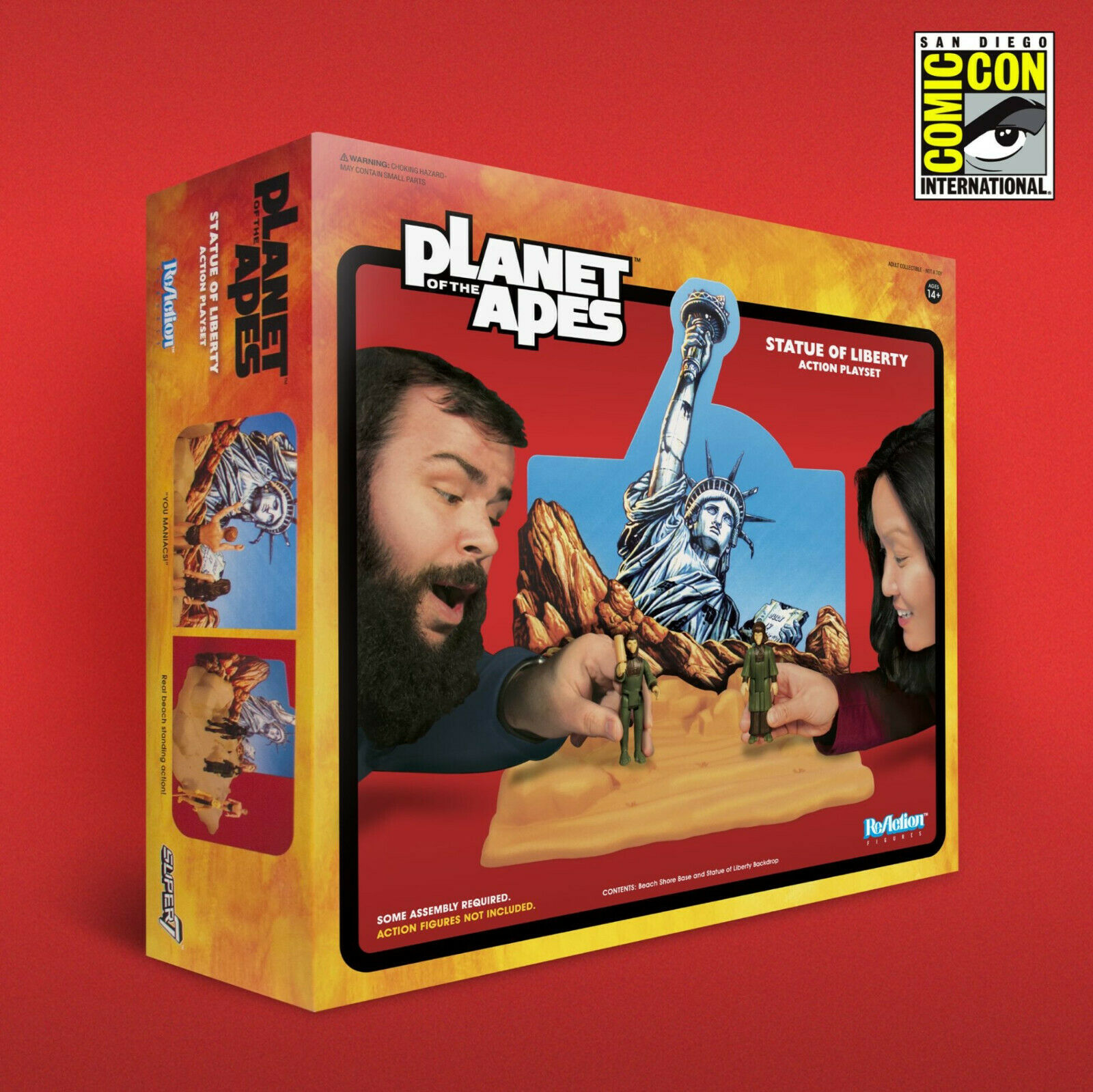 Planet of the Apes SDCC 2018  Statue of Liberty Playset Reazione personaggio SUPER 7  n ° 1 online