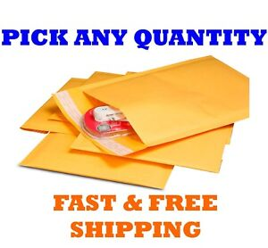 """#000 4x8 KRAFT BUBBLE MAILERS SHIPPING MAILING PADDED BAGS ENVELOPES 4/"""" x 7/"""""""