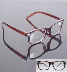 Half Frame Tortoise Shell Reading Glasses : Tortoise shell Eyeglasses Clear Bifocal Reading Glasses ...
