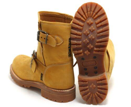 127 Trapper Worker Ankle Boots Leder Stiefel Traktorsohle Unisex Replay 44
