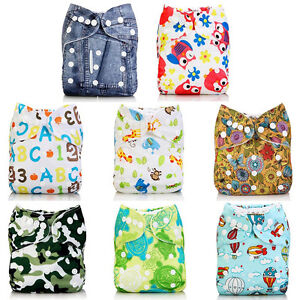 Baby-Alva-Baby-Washable-Reusable-Cloth-Diapers-Nappies-Pocket-in-Bunch-One-Size