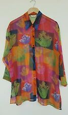 NEXT Vintage Shirt 1990s 90s See Through Pop Art Blouse. Size 10 - 16 Large