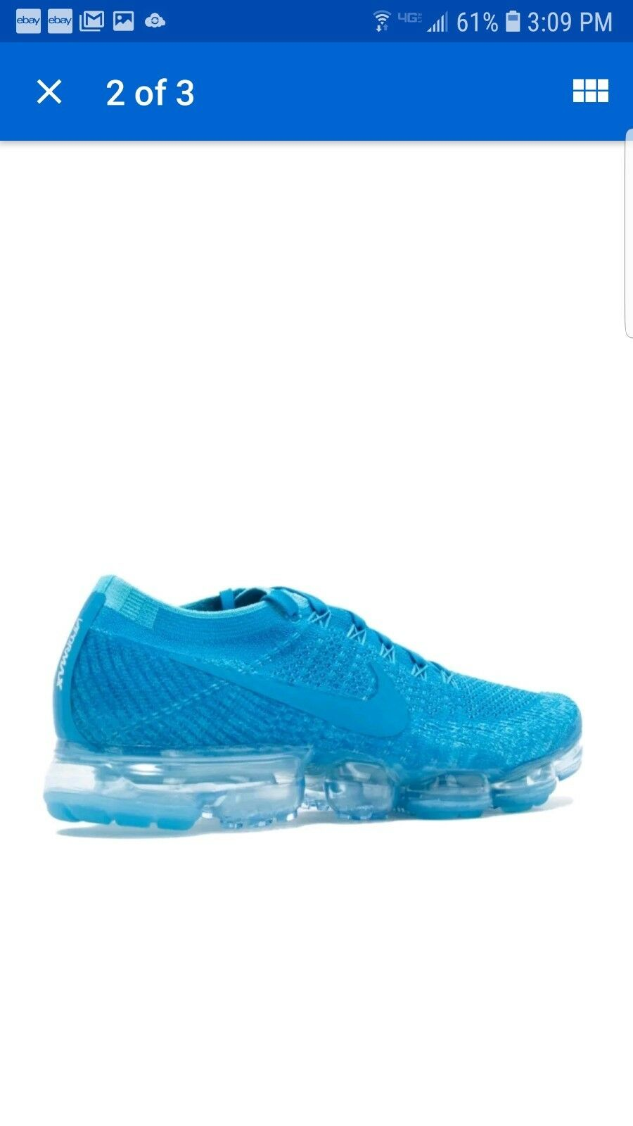 91997ad9c7ea6 DS Nike Air Vapormax Flyknit Orbit Blue Size 12 849558-402 for sale ...