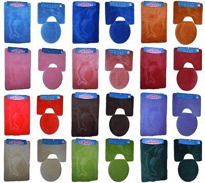 Badgarnitur Badteppich Badezimmergarnitur WC Vorleger 85x55cm mit auschnitt Crem