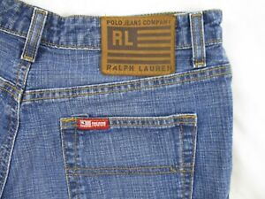 Ralph-Lauren-Polo-Jean-Co-Womens-Saturday-Shorts-Sz-6-Blue-Denim-Summer-CB62C