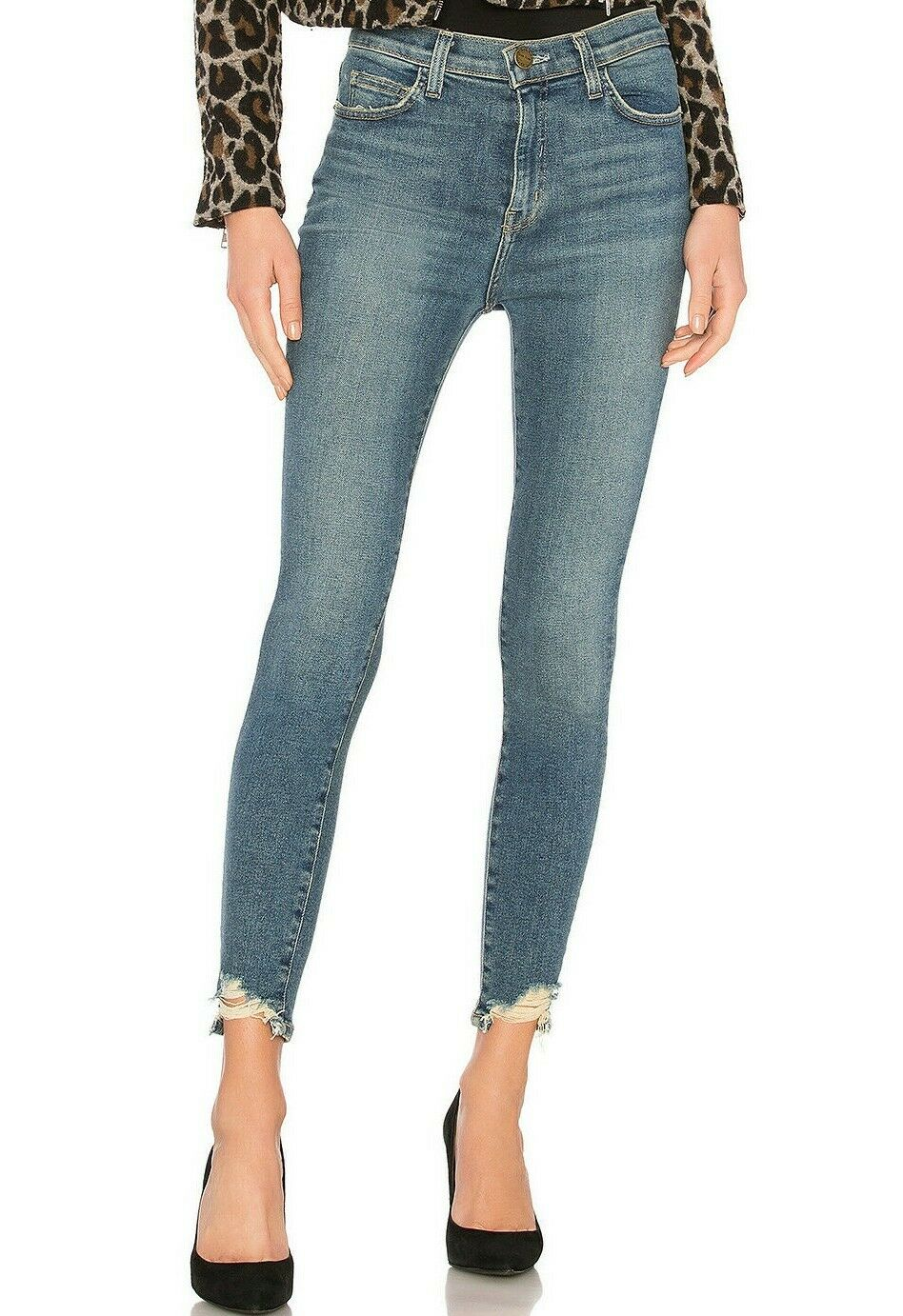 NWT CURRENT ELLIOTT Sz29 THE SUPER HI-WAIST STILETTO STRETCH JEANS HARVEY D