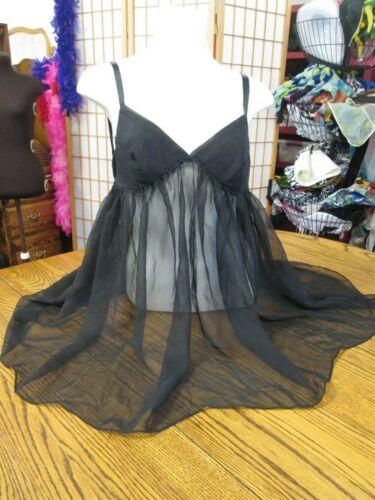 Victoria's Secret Angel nightie black chiffon Medi