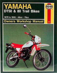 Haynes-Manual-0800-Yamaha-DT50-amp-DT80-78-95-workshop-service-repair