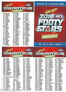 2016-Select-Footy-Stars-CHECK-LISTS-4-cards