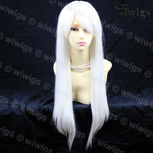 Heat-Resistant-Long-Straight-Skin-Top-Snowy-White-Cosplay-Ladies-Wigs-WIWIGS-UK