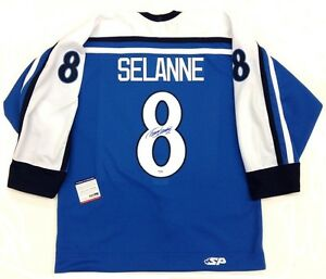 online retailer 748d4 b3463 Details about TEEMU SELANNE SIGNED FINLAND OLYMPICS AUTHENTIC JERSEY  PSA/DNA AUTHENTICATED