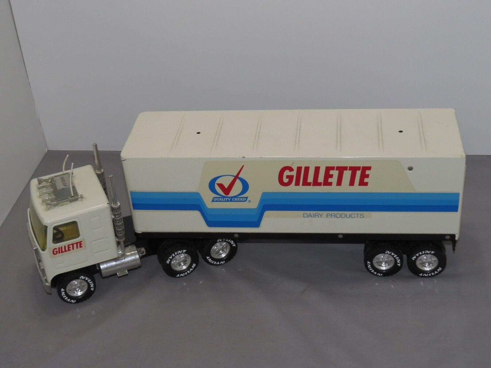 Nylint 1 16 camión semi-remolque internacional de Transtar Juguete Gillette Leche Lácteos