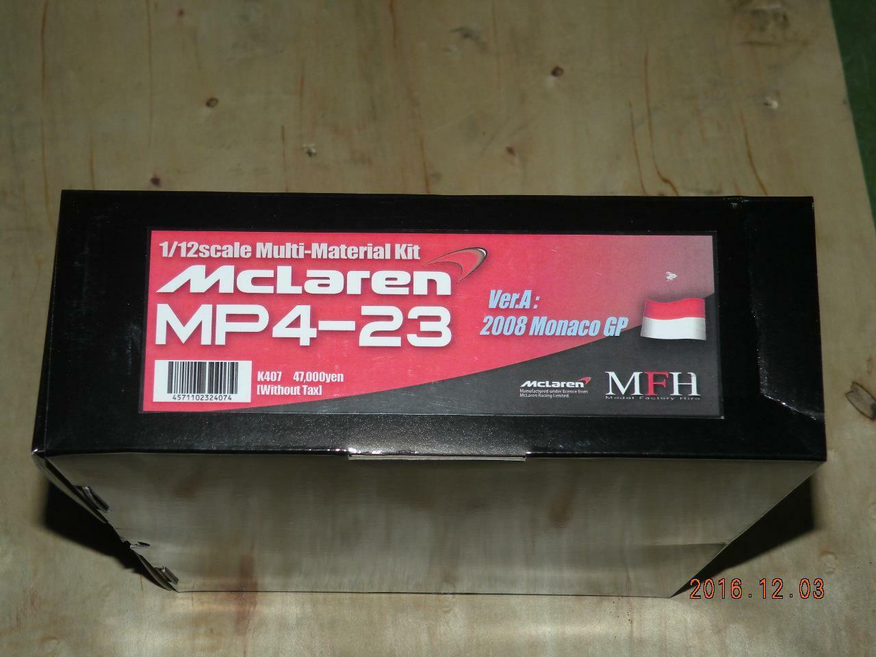 MODEL FACTORY HIRO 1 12 F1 MCLAREN MP4 23 MONACO GP KIT MFH K-407