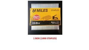 """1000 StaplesOffice School Bank Home 5//16/"""" 10x Kangaro Staples 23//8-H 8mm"""
