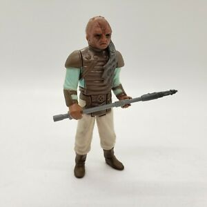 Vintage-1983-Star-Wars-Weequay-Complete-Figure-with-Original-Skiff-Vibro-Axe