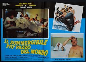 fotobusta IL SOMMERGIBILE PIU' PAZZO DEL MONDO RIZZOLI  BOMBOLO ARIANI SEXY
