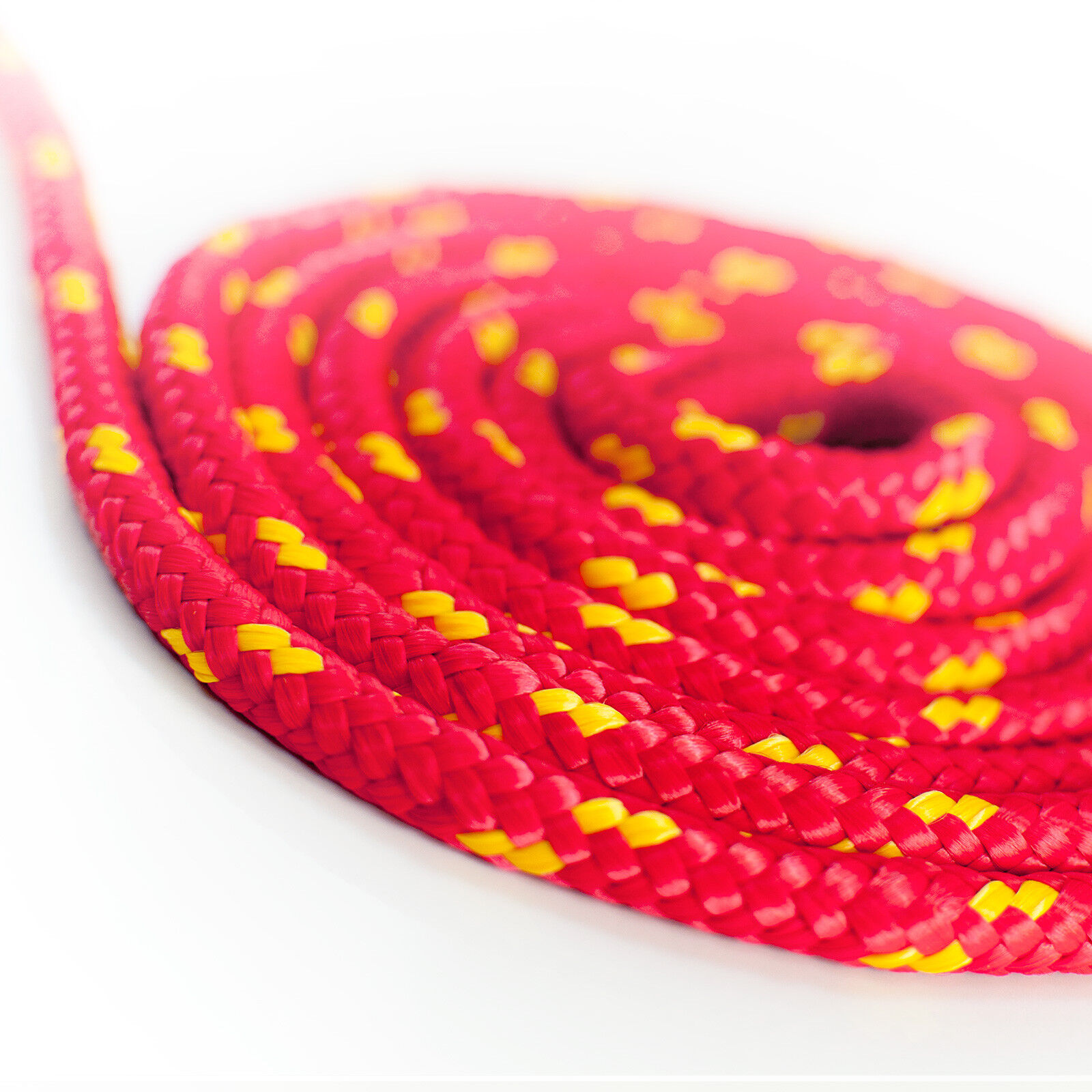 RED POLYPROPYLENE ROPE braided polyrope weatherproof durable UV-stable synthetic