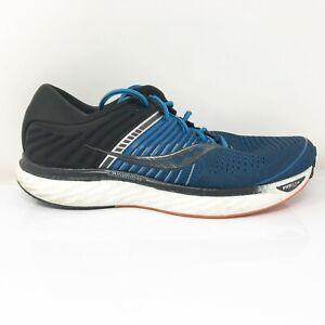 Saucony Mens Triumph 17 S20547-25 Blue Black Running Shoes Lace Up Size 12 W