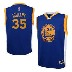 huge selection of 1ec39 856bb Details about Boys 8-20 Kevin Durant Golden State Warriors Basketball  Jersey BLUE