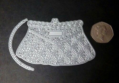 Tattered Lace Vintage Handbag Metal Cutting Die D1230 Handle Cards Crafts