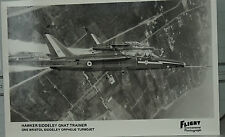 Flight International Photo Hawker Siddeley Gnat Trainer Royal Air Force Postcard