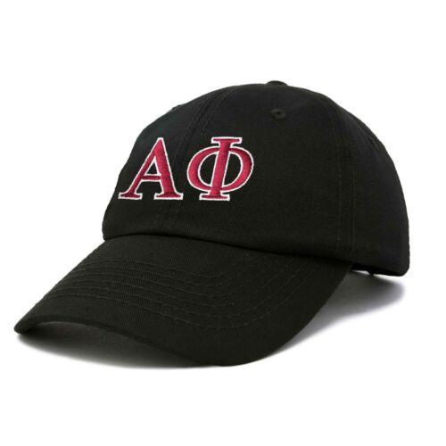 Alpha Phi Sorority Hat Womens Greek Letters Embroidered Baseball Cap Black