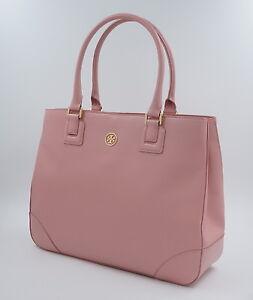 tory burch tasche robinson handtasche saffiano leder rosa uvp 540euro neu ebay. Black Bedroom Furniture Sets. Home Design Ideas