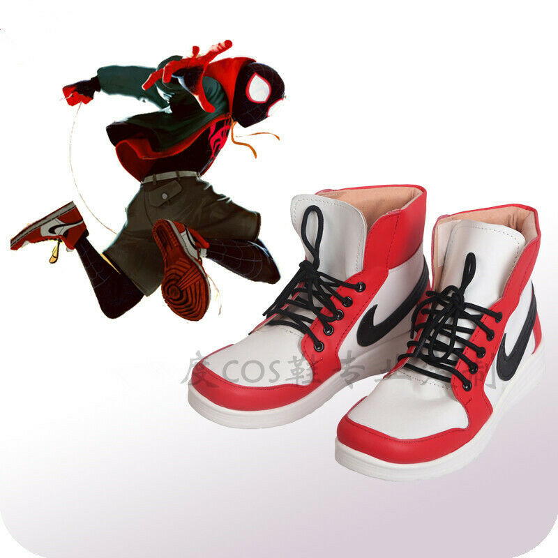 Ultimate Spider-Man Miles Morales Cosplay Shoes Boots Handmade