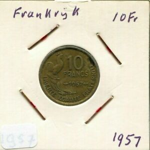 10-FRANCS-1957-FRANCE-French-Coin-AM660CW
