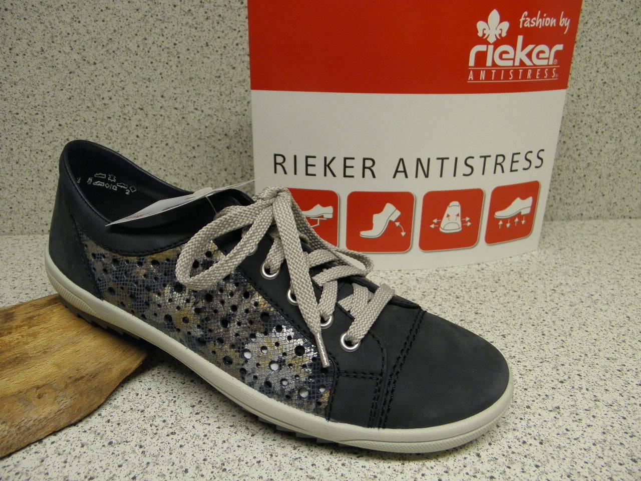 Rieker ® rojouce, hasta ahora    super cómodos azul m6015-15 (r372)  envío gratis