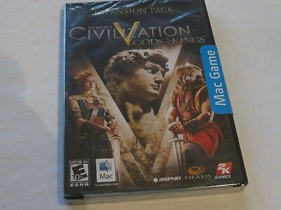 Apple Mac Sid Meier's Civilization V Gods and & Kings Expansion Pack New Sealed
