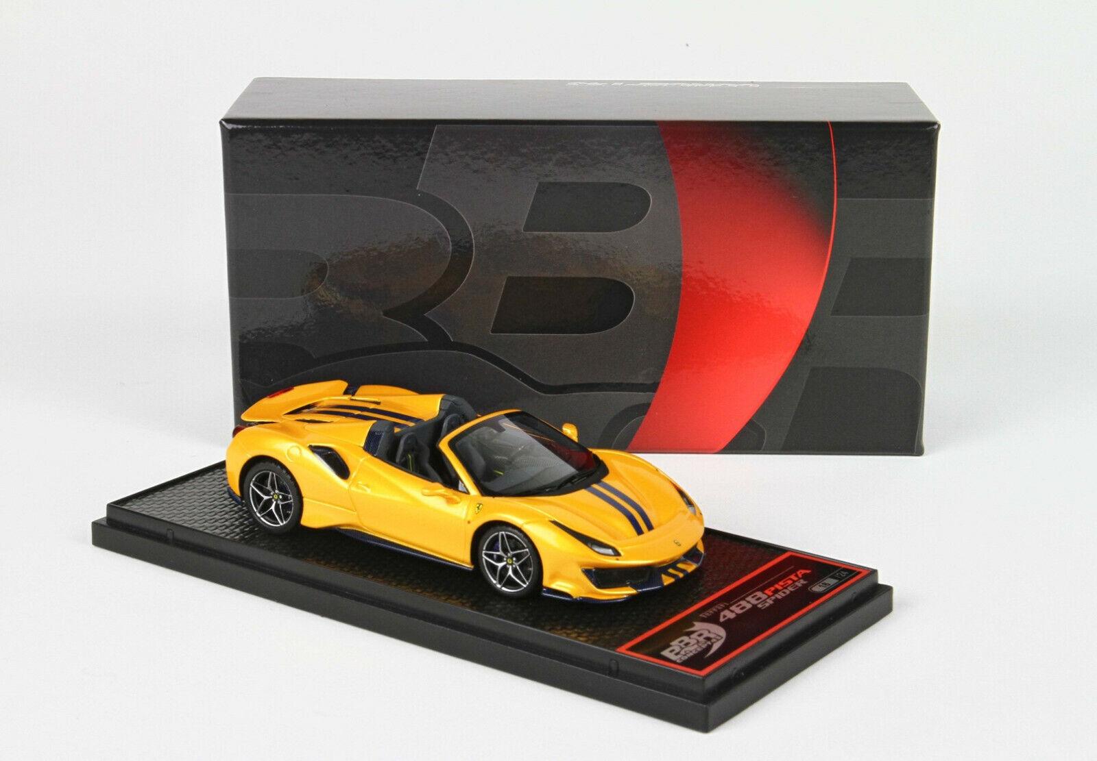 Ferrari 488 Pista Spider jaune Tristrato  lim. 24 pcs  1 43 BBRC218H1 BBR MODELS  beaucoup de concessions