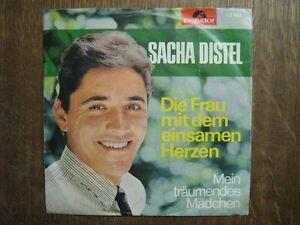 SACHA-DISTEL-45-TOURS-GERMANY-DIE-FRAU-MIT-DEM-EINSAMEN