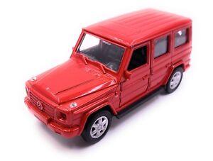 Mercedes-Benz-G-Classe-Maquette-de-voiture-en-rouge-echelle-1-34-LGPL