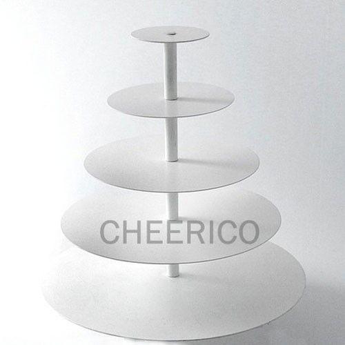 5 Tier Maypole Acrylique Blanc Cupcake Stand tour écran