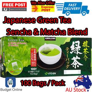 Kirkland-Signature-Japanese-Organic-Green-100-x-Tea-Bag-Sencha-Matcha-Blend-Box