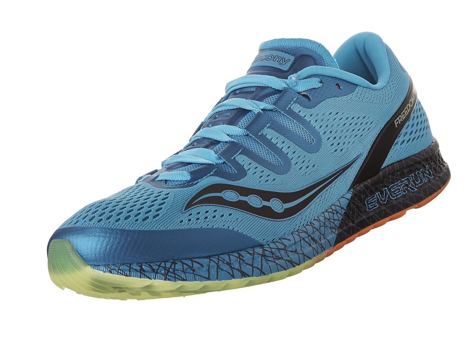Saucony Men's Freedom ISO Running shoes bluee Citron 9 M US