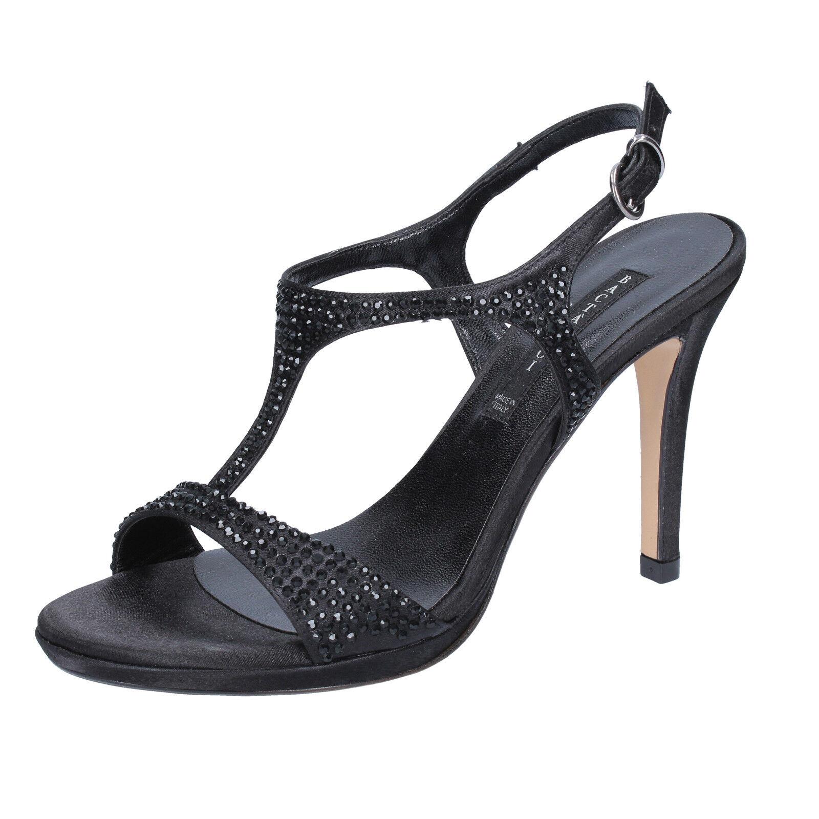 donna BACTA DE TOI 37 EU sandali nero strass raso BY93-C
