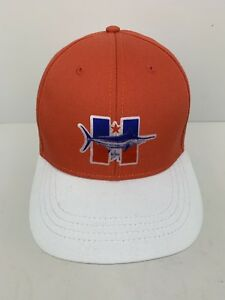 fbe3c6e5b5128 GUY HARVEY Hat Cap Orange White Adjustable One Size Fishing Baseball ...