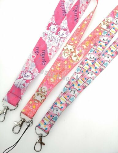 lot cartoon Mary cats Neck Straps Key Chains Lanyard ID Holder A69