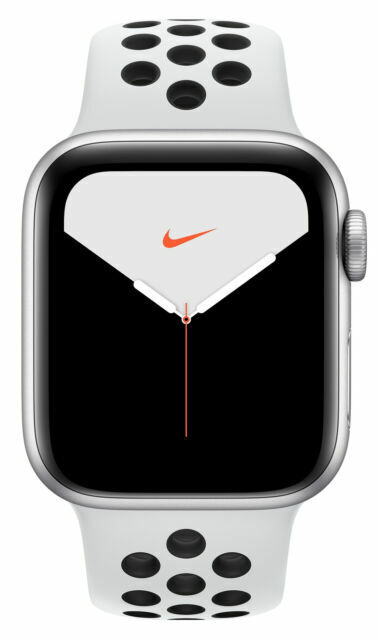 Apple Watch Series 5 Nike 40mm Silver Aluminum Case With Pure Platinum Black Sport Band Gps Cellular Mx372ll A For Sale Online Ebay