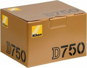 Nikon D750 Digital SLR Camera Body. 2 Years Warranty