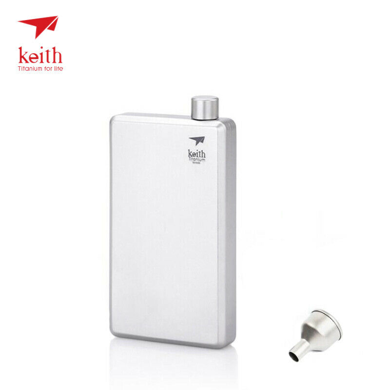 Keith Titanium Hip  colorful Flask Whiskey Alcohol Wine Bottle Ultralight Funnel  fast delivery and free shipping on all orders