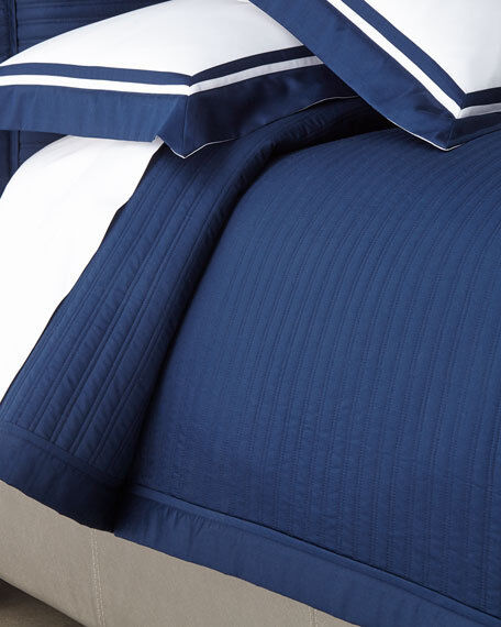 RALPH LAUREN Reed KING COVERLET NWT  POLO NAVY LUXURIOUS COTTON SATEEN  400