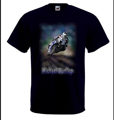 Aerografato Isle Of Man Tt Superbike Rider Michael Dunlop T-shirt In Qualsiasi Dimensione-