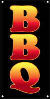 2x4 Ft Vinyl Banner Sign - Bbq Vertical Kb