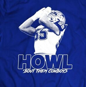on sale 95cd4 8cd0a Details about DALLAS ROOKIE LEIGHTON VANDER ESCH *HOWL BOUT THEM COWBOYS  MENS T-SHIRT