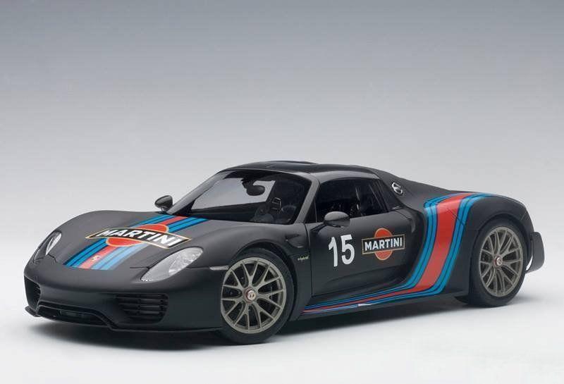1 18 Autoart-Porsche 918 Spyder Weissach Package (negro Martini livery) 2013